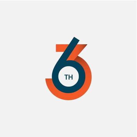 63 th Anniversary Vector Template Design Illustration