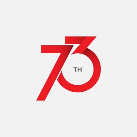 73 th Anniversary Vector Template Design Illustration