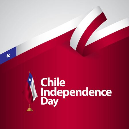 Chile Independence Day Vector Template Design Illustration