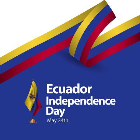 Ecuador Independence Day Vector Template Design Illustration