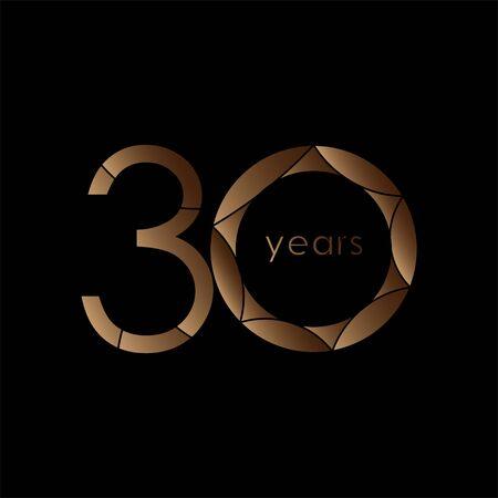 30 year Anniversary Logo Vector Template Design Illustration