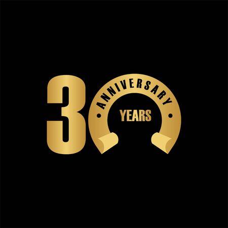 30 Year Anniversary Vector Template Design Illustration