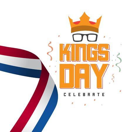 Kings Day Celebrate Vector Template Design Illustration