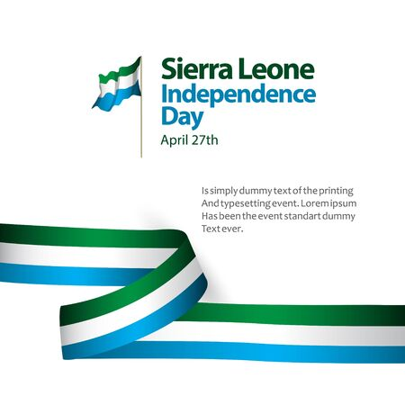Sierra Leone Independence Day Vector Template Design Illustration