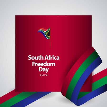 South Africa Freedom Day Flag Vector Template Design Illustration