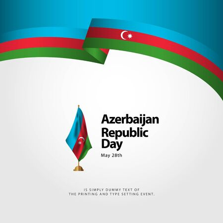 Azerbaijan Republic Day Vector Template Design Illustration Banque d'images - 137582349