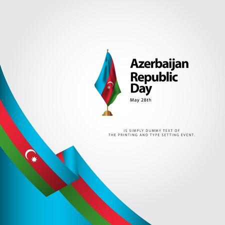 Azerbaijan Republic Day Vector Template Design Illustration Banque d'images - 137582356