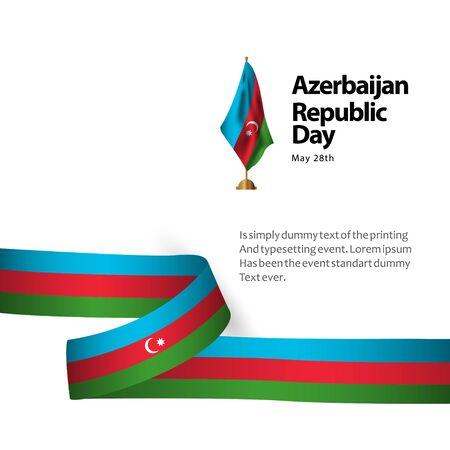 Azerbaijan Republic Day Vector Template Design Illustration Banque d'images - 137582357