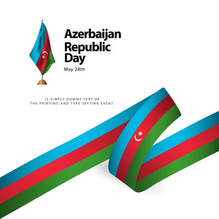 Azerbaijan Republic Day Vector Template Design Illustration Banque d'images - 137582362