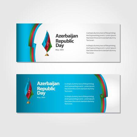 Azerbaijan Republic Day Vector Template Design Illustration Banque d'images - 137679116