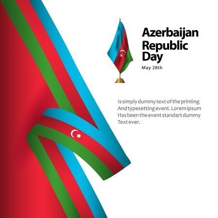 Azerbaijan Republic Day Vector Template Design Illustration Banque d'images - 137679118