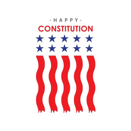 Happy Constitution Day Vector Template Design Illustration Ilustrace