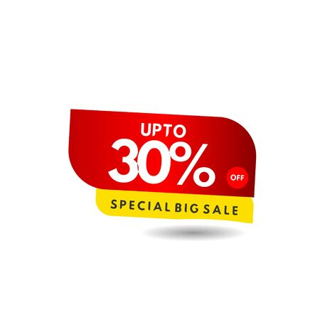 up to 30% Special Big Sale Label Vector Template Design Illustration