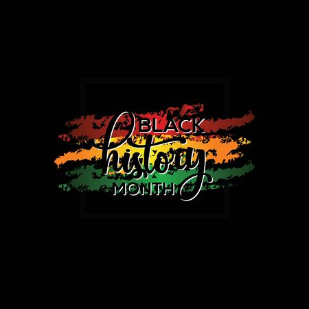 Black History Month Vector Template Design Illustration Stock Illustratie