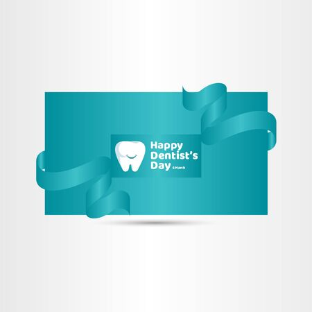 Happy Dentists Day Vector Template Design Illustration