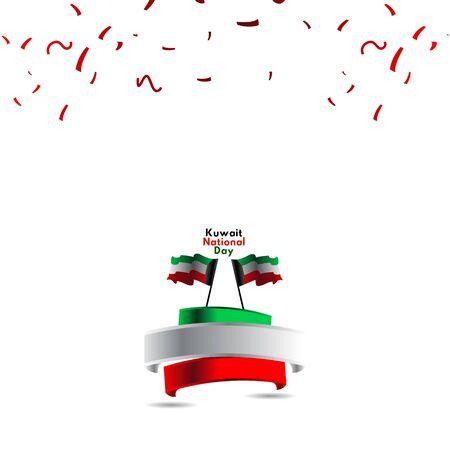 Kuwait National Day Vector Template Design Illustration Stock Illustratie