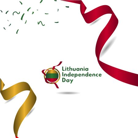 Lithuania Independence Day Vector Template Design Illustration