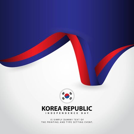 Korea Republic Independence Day Vector Template Design Illustration