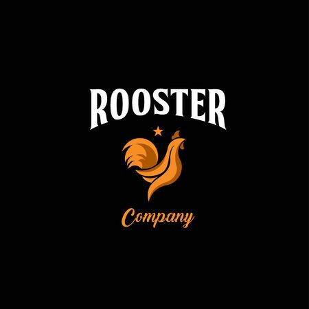 Rooster Company Logo Vector Template Design Illustration Stock Illustratie