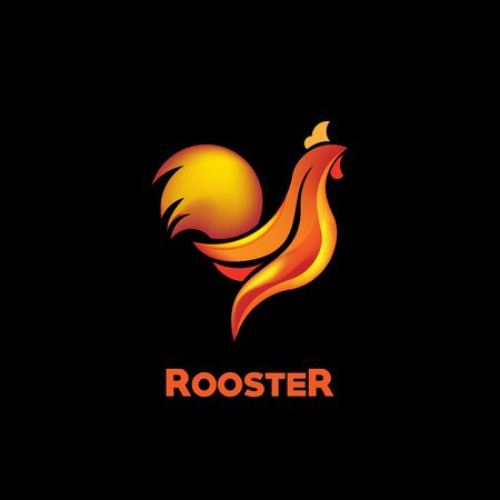 Rooster Logo Vector Template Design Illustration