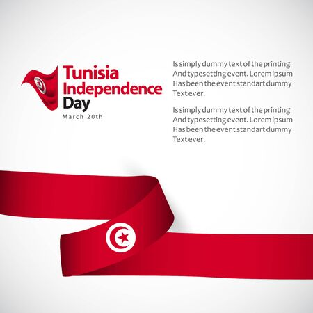 Tunisia Independence Day Vector Template Design Illustration Ilustração