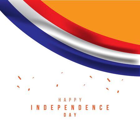 Illustrazione felice di progettazione del modello di vettore di festa dell'indipendenza dei Paesi Bassi Vettoriali