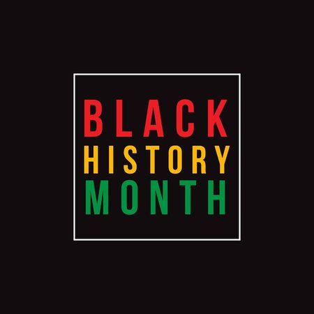 Illustration de conception de modèle de vecteur de mois de l'histoire des noirs
