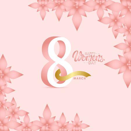 Happy Women's Day Celebration March 8 Vector Template Design Illustration