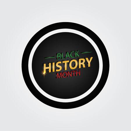 Black History Month Celebration Vector Template Design Illustration