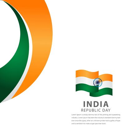 Happy India Independence Day Celebration Vector Template Design Illustration Illustration