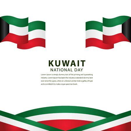 Joyeux Jour de l'Indépendance du Koweït Célébration Vector Template Design Illustration Vecteurs