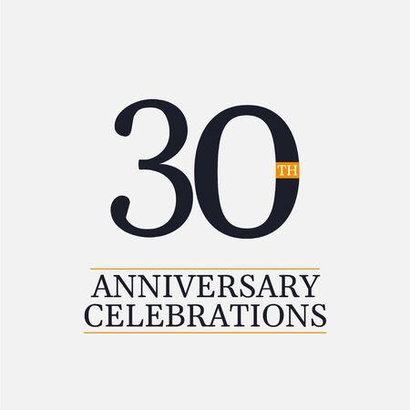 30 Years Anniversary Celebrations Vector Template Design Illustration Ilustração