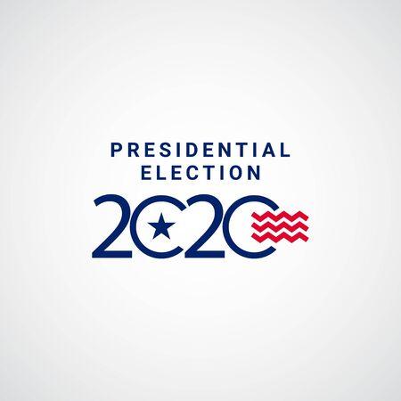 Presidential Election 2020 Vector Template Design Illustration Illustration