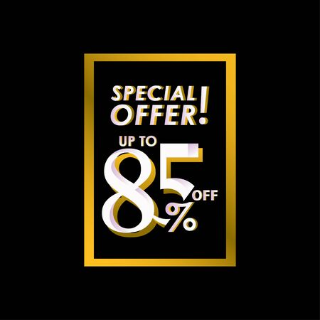 Discount Special Offer up to 85% off Label Vector Template Design Illustration Stock Illustratie
