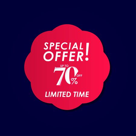 Discount Special Offer up to 70% off Limited Time Label Vector Template Design Illustration Stock Illustratie
