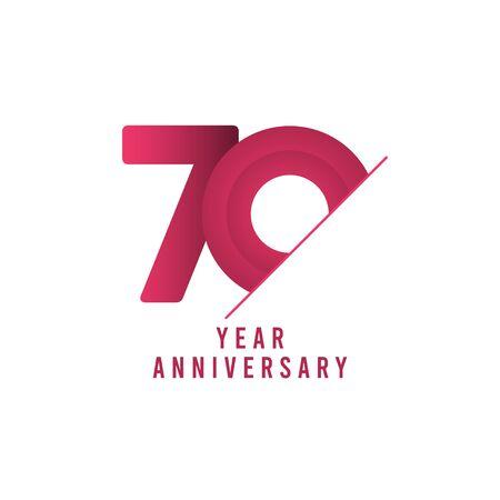 70 Years Anniversary Celebration Vector Template Design Illustration Stock Illustratie