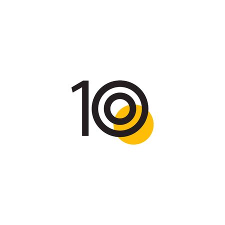 10 Years Anniversary Celebration Vector Template Design Illustration Stock Illustratie