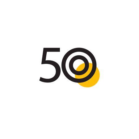 50 Years Anniversary Celebration Vector Template Design Illustration Stock Illustratie