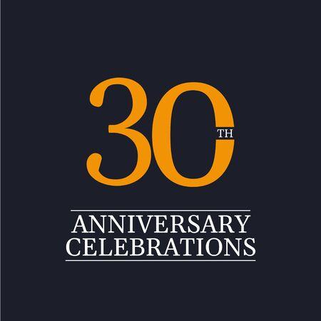 30 Years Anniversary Celebrations Vector Template Design Illustration Stock Illustratie