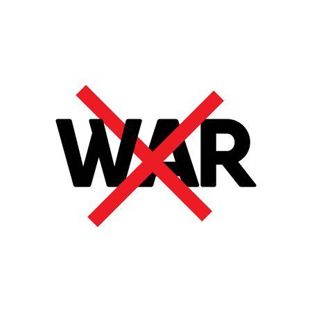 Stop War Text Label Vector Template Design Illustration Stock Illustratie