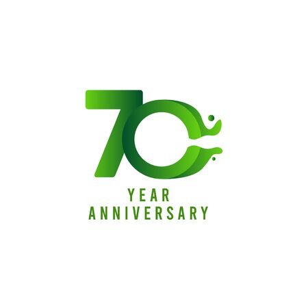 70 Years Anniversary flux Celebration Vector Template Design Illustration