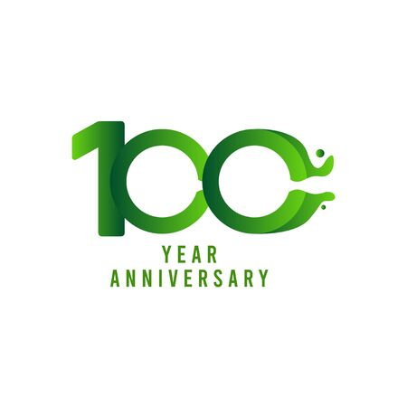 100 Years Anniversary flux Celebration Vector Template Design Illustration