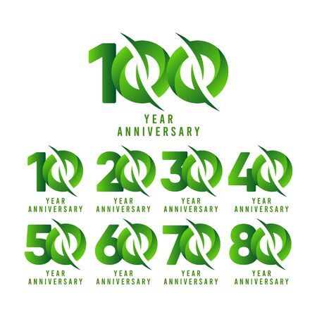 100 Years Anniversary green Celebration Vector Template Design Illustration