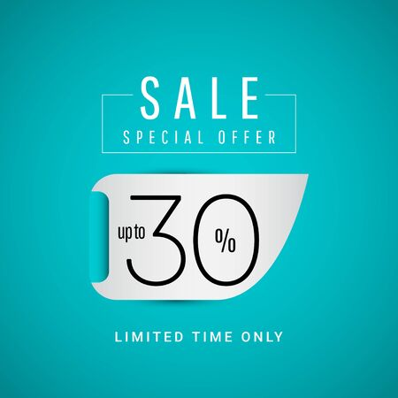 Sale Special Offer up to 30% Limited Time Only Vector Template Design Illustration