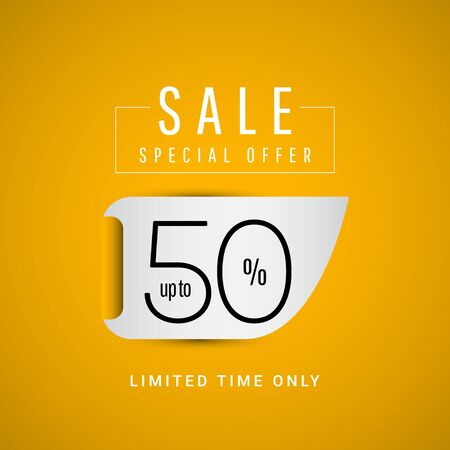 Sale Special Offer up to 50% Limited Time Only Vector Template Design Illustration