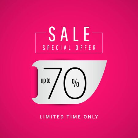 Sale Special Offer up to 70% Limited Time Only Vector Template Design Illustration 일러스트