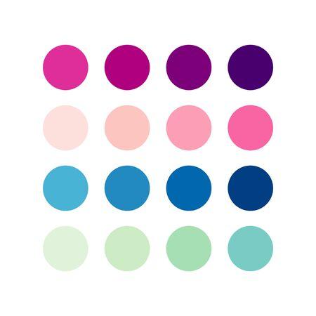Color Pallet Gradient Vector Template Design Illustration 일러스트
