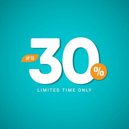 Discount up to 30% Limited Time Only Vector Template Design Illustration