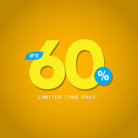 Discount up to 60% Limited Time Only Vector Template Design Illustration