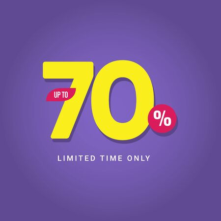 Discount up to 70% Limited Time Only Vector Template Design Illustration